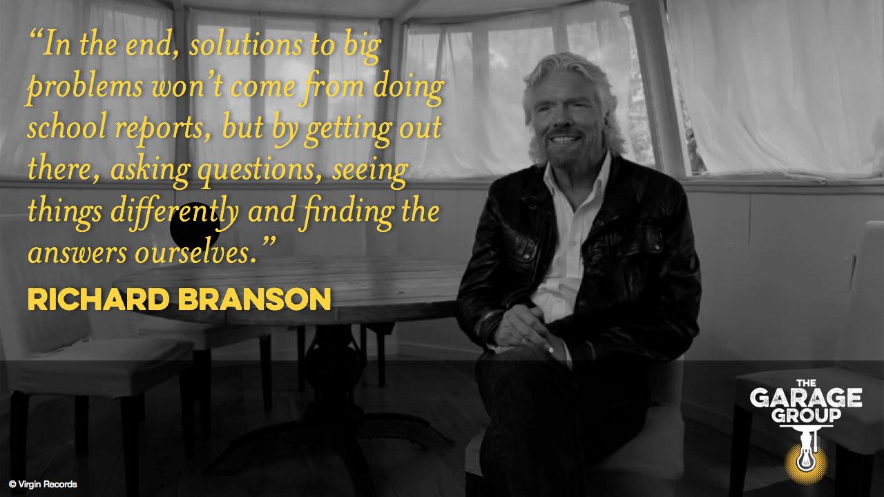 richard branson on entrepreneurship the garage group